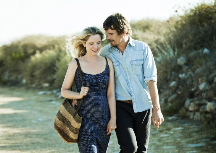Julie Delpy e Ethan Hawke em Antes da Meia-Noite